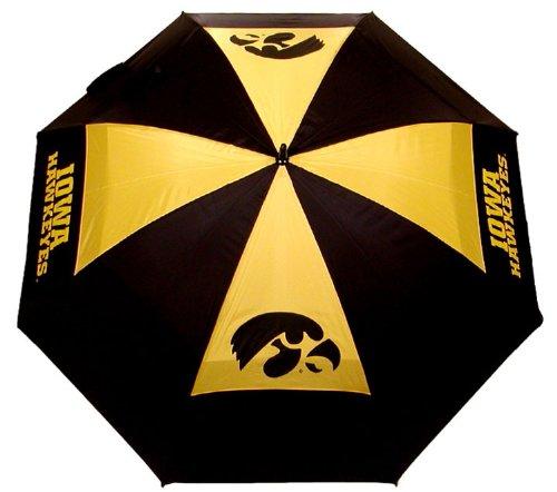 Team Golf NCAA Iowa Hawkeyes 62' Golf Umbrella with Protective Sheath, Double Canopy Wind...