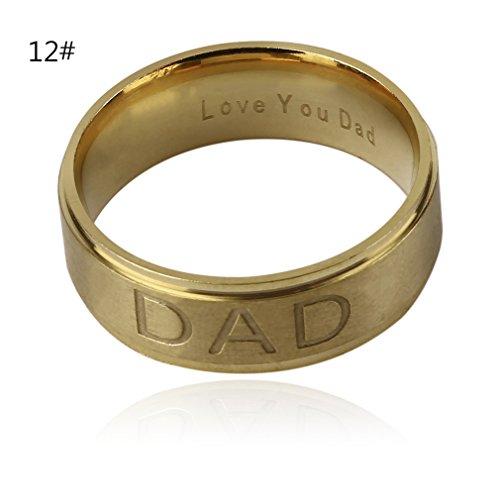 8mm Europese en Amerikaanse stijl mode roestvrij stalen ring mannen vrouwen klassieke ringen sieraden cadeau bruiloft feestgoud