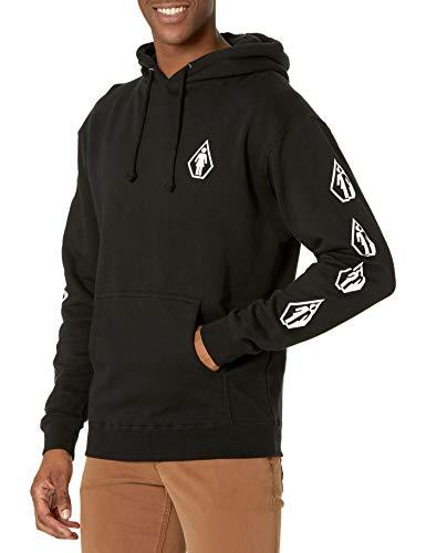 Volcom Men s Vlcm x Skateboards Deadly Girl Hooded Fleece Sweatshirt, Black, Medium