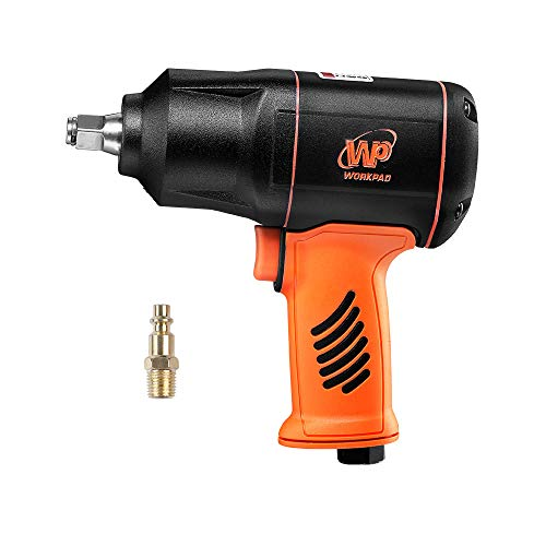 WORKPAD 1/2-Inch Composite Air Impact Wrench with Twin Hammers, Pneumatic Tools