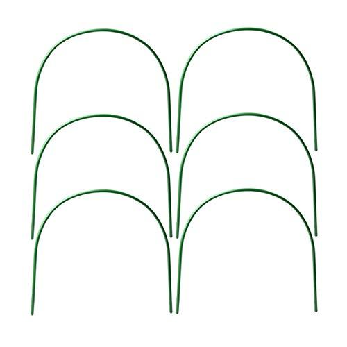 LQKYWNA 6 Stück Gewächshaus-Reifen, 15.7 * 19.5 In Garten-Stützrahmen Gartentunnel Tragbare Gewächshaus Hoop Grow Tunnel Metallstützreifen für Gartenstoff