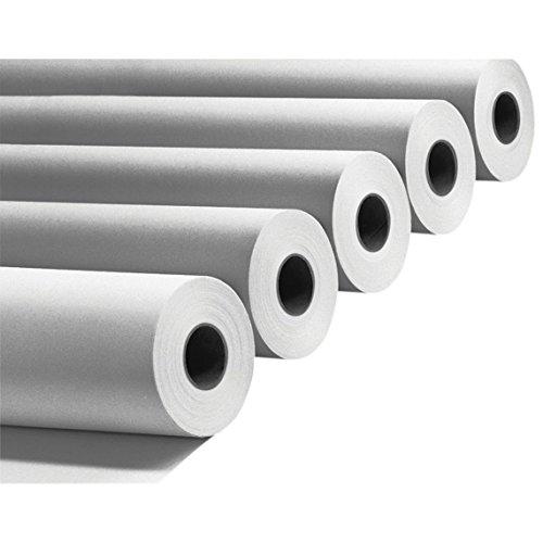 Confezione 4 Rotoli Plotter 914mm x50 m 90 gr/mq Anima 50 Carta Bianca A0compatibili per HP e EPSON STYLUS
