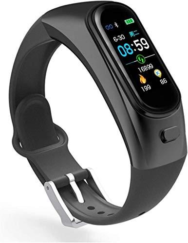Reloj de pulsera inteligente con auriculares 2 en 1 para hombres y mujeres, de moda, deportes, impermeable, rastreador de fitness
