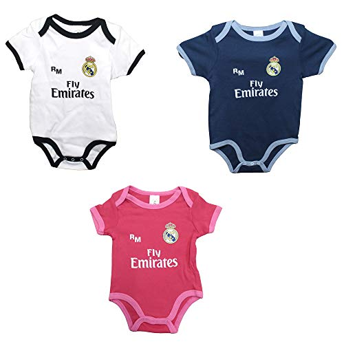 Real Madrid FC Baby Jungen (0-24 Monate) Set Weiß, Weiß 86