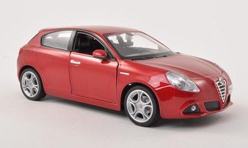 Alfa Romeo Giulietta (940), met.-DKL.-rot , Modellauto, Fertigmodell, Bburago 1:24