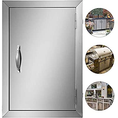 Mophorn Double Wall BBQ Access Door Cutout 20 Height x 14 Width Inches BBQ Island Door Brushed Stainless Steel Perfect for Outdoor Kitchen or BBQ Island