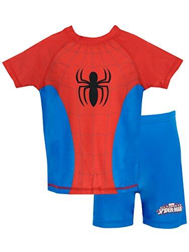 Spiderman El Hombre Araña - Bañador de Dos Piezas para niño 5-6 Años