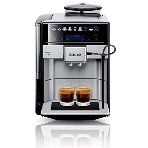 Siemens TE657503DE EQ.6 Plus S700 Automatyczny Ekspres do Kawy, Stal Nierdzewna/Tworzywo Sztuczne, 1500 W, 1,7 Litra, Czarny/Srebrny