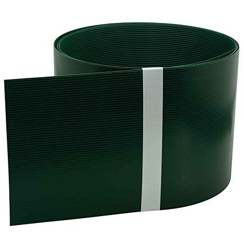 INTRA-TEC Zaun-Sichtschutzstreifen Moosgrün - 10 Stück aus Hart-PVC 252x19 cm, RAL 6005 für Doppelstabmattenzäune, Windschutz