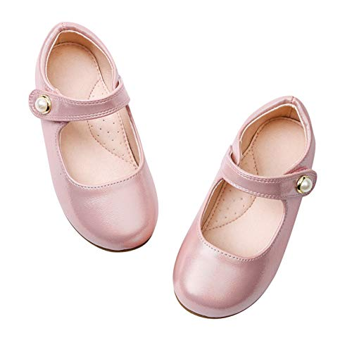 STELLE Girls Mary Jane Flats Slip-on Party Dress Shoes for...