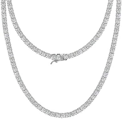 michooyel Tennis Necklace for Men Tennis Chain for Men Women Iced Out Diamond Necklace Prong product image
