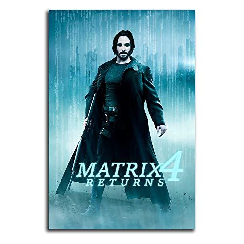 The Matrix 4 - Impresión sobre lienzo (61 x 91,4 cm, 2021, Keanu Char_les Reeves)