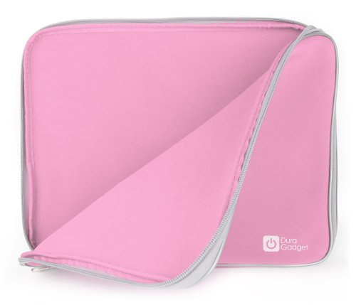 DURAGADGET Pink Water-Resistant Neoprene Case - Compatible with Acer Iconia W700 / W701 / Acer Aspire ES1-111M