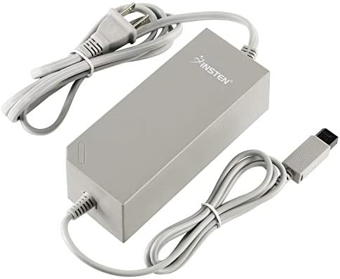 Insten AC Adapter for Nintendo Wii Console NOT Compatible with Nintendo Wii U White Replacement product image