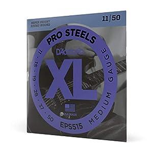 D'Addario EPS515 Pro Steels - Set de cuerdas (calibre .11-.50 pulgadas)