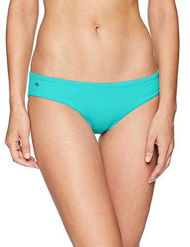 Maaji Women's Sublime Reversible Hipster Cut Bikini Bottom Swimsuit, Aquatic Teal/Watercolor, Medium