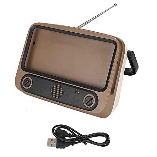 RBSD Pequeño Altavoz del Estilo Retro, Altavoz de Bluetooth, Antena Extensible para el hogar al Aire Libre(Color)