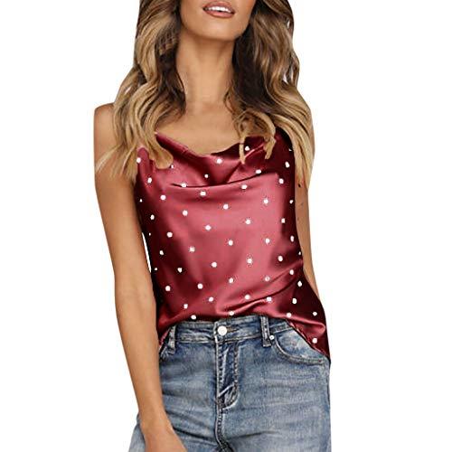 Luckycat Camisetas Sin Mangas Mujer Tallas Grandes Camisetas Mujer Verano Blusa Mujer Sport Tops Mujer Verano Camisetas Mujer Fiesta Elegante Tank Tops Tunares