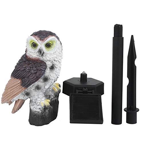 Niady Owl Shape Waterproof Solar LED Lawn Lamp Garden Lights for Outdoor Yard Landscape Decor(Colorful)