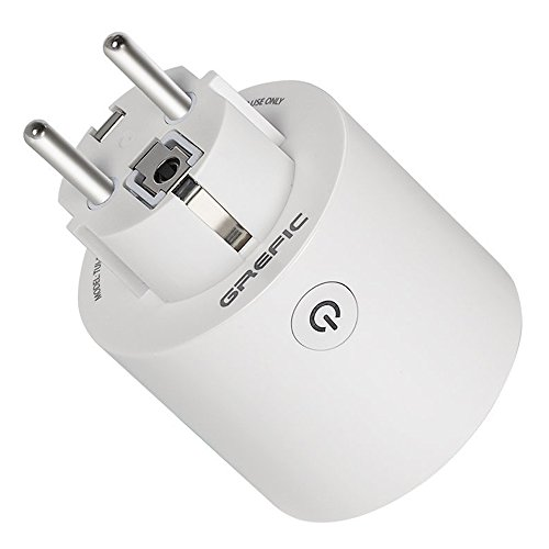 GREFIC Enchufe Inteligente Wifi, Smart Plug Mini Socket Interruptor de Enchufe Control Remoto Temporización Compatible con Alexa