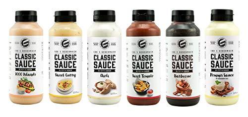 Got7 Classic Sauce Soße Salatsoße Grillsoße Perfekt Zur Diät Abnehmen Fitness Bodybuilding 265ml (2. Mix Box)