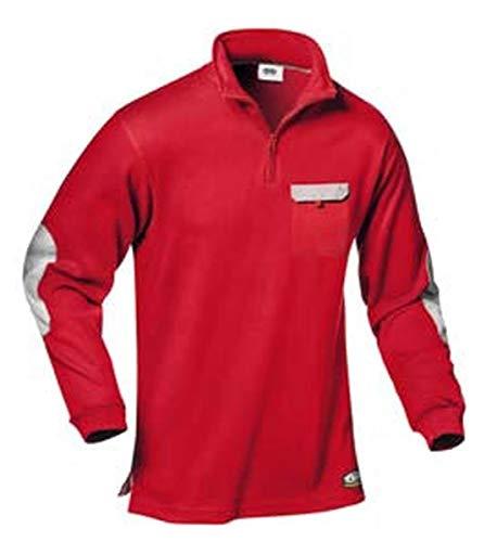 Polo-Shirt Zara (rot/grau) XXXL