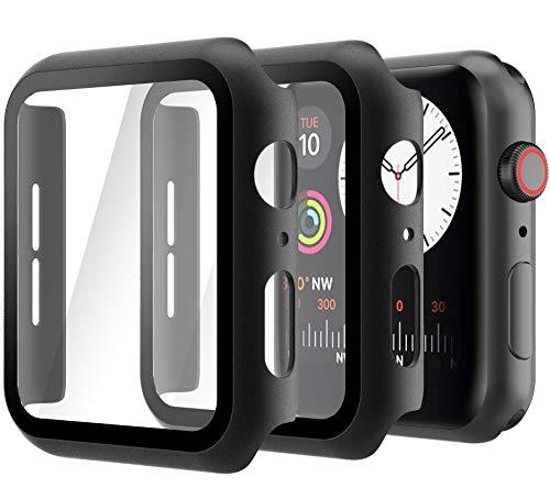 Hianjoo 2 Piezas Funda con Protector de Pantalla Templado Compatible con Apple Watch 40 mm, PC Cubierta Estuche Compatible con iWatch...