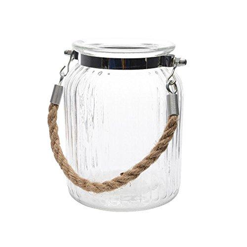Windlich Teelicht Teelichthalter Windlichthalter Glas mit Seilgriff zum Hängen