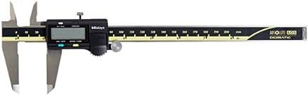 Paquímetro Digital Capacidade 0-8'' Haste de Profundidade Retangular Ajuste Fino com Roldana Mitutoyo 500-197-30B