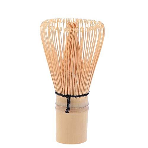 DIYARTS Batidor Matcha de bambu de 120 puntas hecho a mano tradicional de te verde en polvo, herramienta para batir matcha (48 puntas)