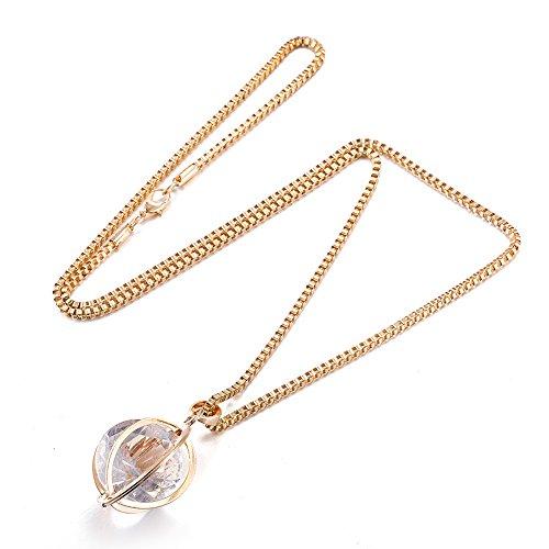 Styleziel dames sieradenset halsketting medaillon Venetiaanse ketting met mandhanger met kristal goud zilver pl 75 cm 2111