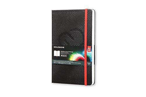 Moleskine Smart Notebook, Taccuino Digitale con Pagine Bianche Connesso all'App Creative Cloud Connected, Copertina Rigida, Formato Large 13 x 21 cm, Colore Nero, 600 Pagine