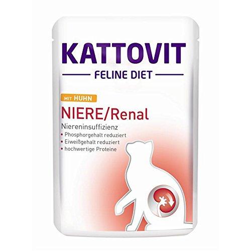 Kattovit | Feline Diet Niere/Renal mit Huhn | 24 x 85 g