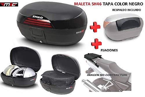 SHAD Kit BAUL Maleta Trasero SH46 litros + FIJACION + Respaldo Pasajero...