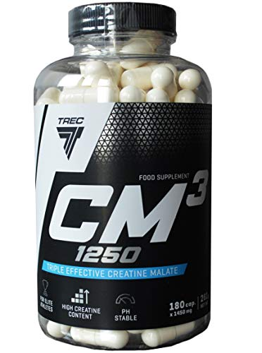 Trec Nutrition Cm3 1250 180 caps -- Creatine Tablets for MASS / WEIGHT GAIN / STRENGTH / SIZE