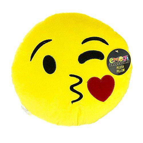 EXPRESSIONS Blow a Kiss Emoji Pillow