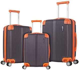 Rockland Berlin Hardside Expandable Spinner Wheel Luggage Set Charcoal 3 Piece 20 24 28 product image