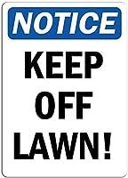 芝生に近づかないでください。金属スズサイン通知街路交通の危険警告耐久性、防水性、防錆性