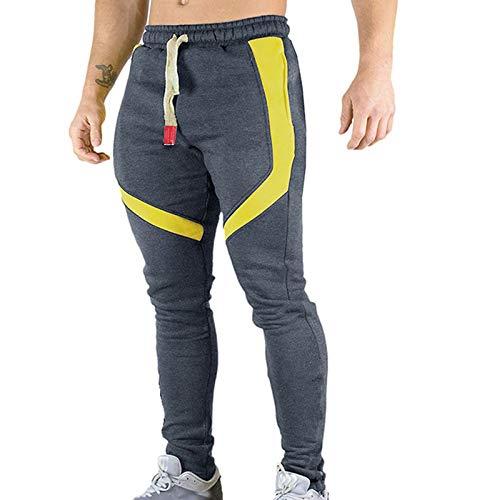 hellomiko Pantalones Deportivos para Hombre Pantalones Deportivos de algodón Pantalones Delgados para Fitness Pantalones Casuales Pantalones Deportivos de Calle para Correr