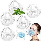 Support de Masque 3D Silicone, Cadre Supports de Internes pour Masque Respirant de Protection Rouge à Lèvres Confortable et RéUtilisable Cadre de Masque 5 Pièces