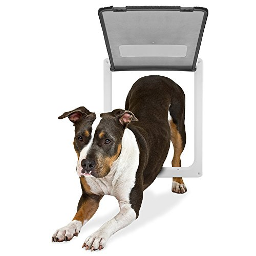 Weebo Pets Large Breed Locking Pet Door – 14.5' x 12' Opening with Hard Plastic Flap