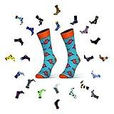 Sesto Senso Calcetines Divertidos Algodón Mujer Hombre Locos Coloridos Funny Socks Cangrejos Mar 36-37 Crab