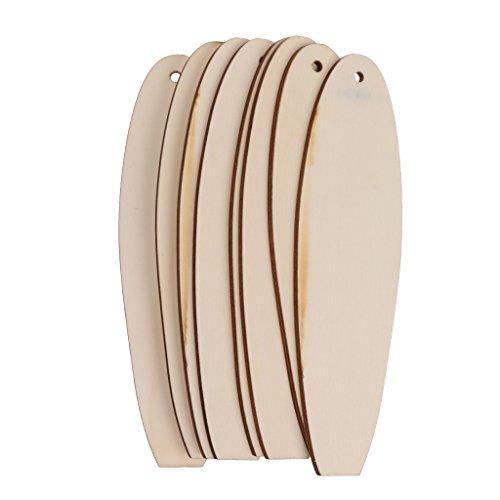 Material: Madera Sin terminar DIY crafts tabla de surf de madera en blanco Hechos a mano y estilo natural, también puede ser el tablón de anuncios Tamaño aproximado: 16,4 x 4,8 x 0,3 cm / 6,46 x 1,89 x 0,12 pulgadas Con un diseño de pozo para que pue...