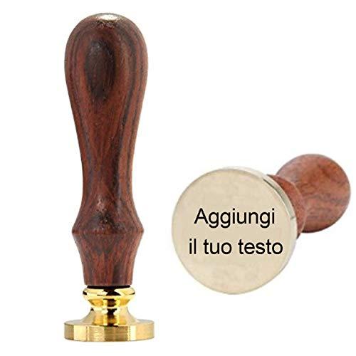 Mogokoyo Personalizzato Timbro Ceralacca di Cera Sigillo per abbellimento di Buste, inviti, Confezioni di Vino, Confezione Regalo