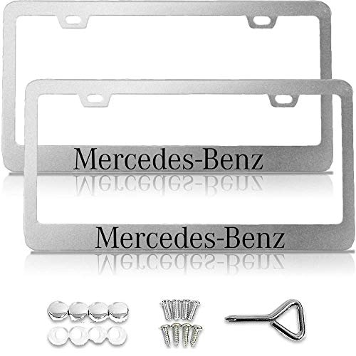 Nightingale Villa License Plate Frame for Mercedes Benz, License Plate Frame for Mercedes, Mercedes Benz Accessories, Chrome License Plate Frame,License Plate Frame Chrome,Mercedes Accessories