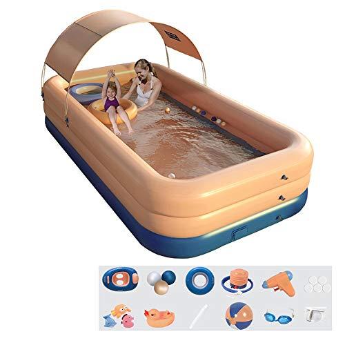 Piscina MM Piscina para Niños Inflable Automática Al Aire Libre, Material De PVC Resistente Al Desgaste, Piscina para Niños Al Aire Libre En Verano, Protección UV, 3 Tamaños (Size : 318x180x68cm)