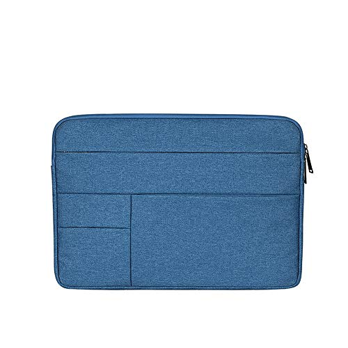 Baomasir Sleeve Hülle Oxford-Stoff wasserabweisend Laptop Hülle kompatibel 13-13,3 Zoll MacBook Pro/Air, Multi-Objekt-Tasche, große Kapazität, Blau