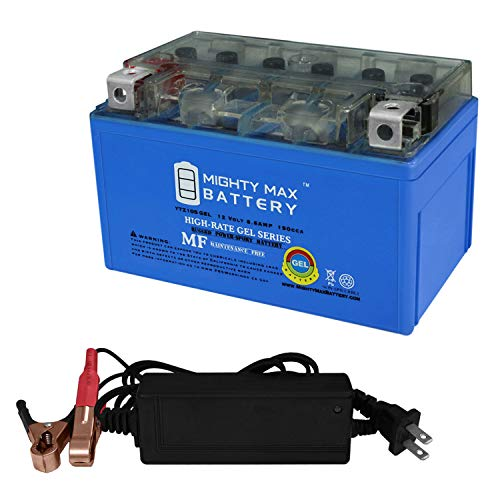 Mighty Max Battery YTZ10S Gel Battery for Yamaha YZF-R6 R6S 2006-2013 + 12V 2AMP Charger Brand Product