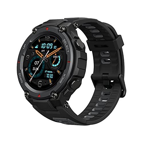 Amazfit T-Rex Pro Smartwatch Fitness Monitor de Sueño y Ritmo cardiaco 10 ATM GPS Reloj Inteligente Deportativo con más de 100 Modes Deportes Duración de batería 18 días Resitente Diseño Negro