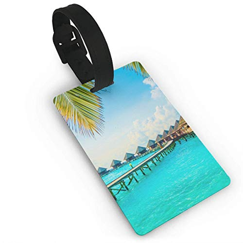 WERERT Etiquetas de Equipaje,Luggage Tag Hammock Business ID Card Holder with Adjustable Strap for Travel BaggageTags Baggage Bag/Suitcases Business Card Holder Name ID Labels 3.7X2.2in